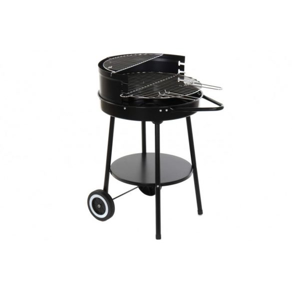 Barbecue, fém59x49,5x82, fekete